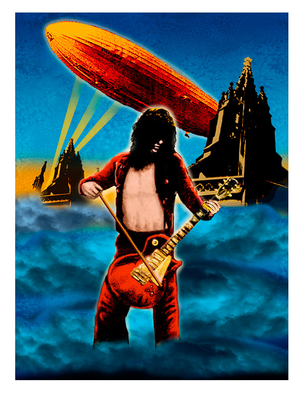 JIMMY PAGE 1972  ARTWORK FROM GET THE LED OUT